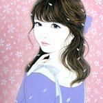 『桜デート』2016年 F4号  個人蔵