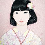 『春うらら』2019年 F4号 個人蔵