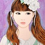 『白ばらちゃん』2016年 F0号 個人蔵