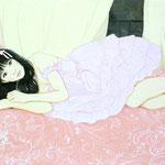 『秋の夜長〜ピンクジンジャー〜』2018年 F4号 個人蔵