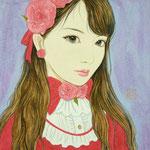 『紅ばらちゃん』2016年 F0号 個人蔵