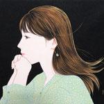 『夜のそよ風〜キウイ〜』2021年 F3号 作家蔵