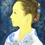 『花火の夜』2010年 F0号  個人蔵