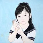 『セーラー服と幻獣 〜ポニーテール〜』2016年 F3号 個人蔵