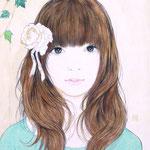 『RIBON&ROSE』 F3号 2012年 個人蔵