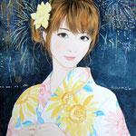 『真夏の花』 F4号 2013年 個人蔵