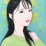 『菜の花ガール*Kana』2021年 F0号 個人蔵