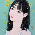 『菜の花ガール*Hina』2021年 F0号 作家蔵
