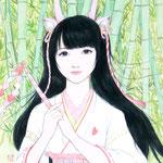 『新生姜の巫女・吽』2018年 F3号 個人蔵