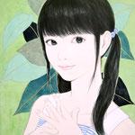 『ツインテール 〜summer〜』 F0号 2012年 個人蔵