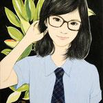『眼鏡っこ』 F0号 2012年 個人蔵