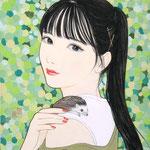 『ふれ愛 〜肩〜』2020年 F0号 作家蔵