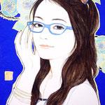 『お気に入りのメガネ』2010年 F0号  個人蔵