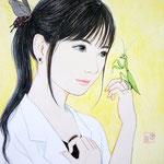『愛づる』2016年 F0号 個人蔵