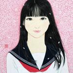 『桜唇』2020年 F8号 作家蔵