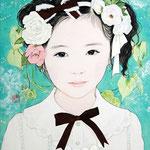 『おすまし』 F4号 2012年 作家蔵