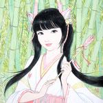 『新生姜の巫女・阿』2018年 F3号 個人蔵