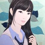 『憧れの先輩』 F0号 2012年 個人蔵