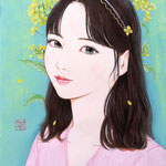 『菜の花ガール*Yuna』2021年 F0号 作家蔵