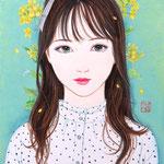 『菜の花ガール*Moe』2021年 F0号 個人蔵