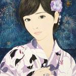 『花火大会の夜に』2014年F4号  個人蔵