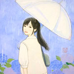 『雨もいいよね』2014年F0号  個人蔵