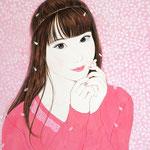 『桜デート〜未来〜』2020年 F6号 作家蔵