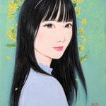 『菜の花ガール*Risa』2021年 F0号 個人蔵