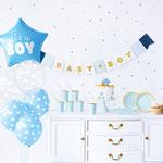 Baby Shower blau/silber