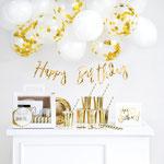 Box Happy Birthday gold