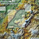 Relief Großer Segeberger See (Tafel Geologischer Lehrpfad & Tiefenkarten, LLUR)