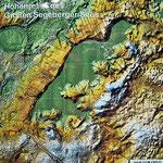 Relief Großer Segeberger See (Tafel Geologischer Lehrpfad, LLUR)