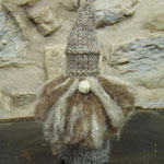 Art Doll Knitted with natural wool Gnome
