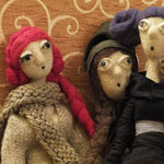 Art Dolls Needle Felted Priscilla, Berenice, Lenoire