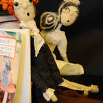 Art Dolls Needle Felted the Mad Hatter and White Queen