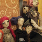 Art Dolls Needle Felted Priscilla,Lenoire, Berenice, Cornelia and Petula
