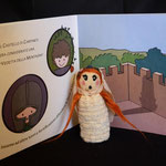 Needle felted puppet Matilde di Canossa