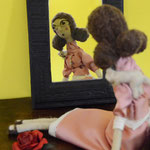 Needle felted art doll Lisa OOAK