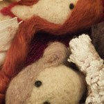 Art Dolls Needle Felted Hamlet and Ofelia