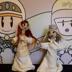 "Needle felted puppets ""Matilde di Canossa"""