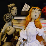 Art Dolls Needle Felted Alice in Wonderland and White Queen