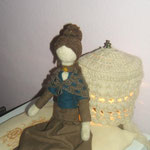 Art Doll Needle Felted Pupillae