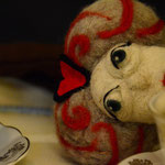 Art Doll Needle Felted Queen of Hearts
