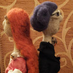 Art Dolls Needle Felted Lenoire and Lotti