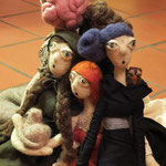 Art Dolls Needle Felted Lenoire, Lotti Berenice