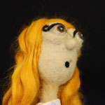 Art Doll Needle Felted Alice in Wonderland