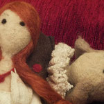 Art Dolls Needle Felted Ofelia and Hamlet