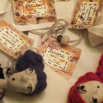 Art Dolls Needle Felted detail and labels