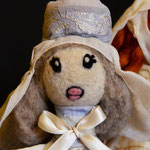 Needle felted puppet Beatrice di Canossa
