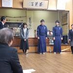 旧幹事の宮本(4)、新幹事の大久保(3)、後藤(3)、新幹事補佐の高田(2)より挨拶